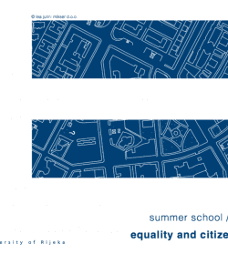 Equality and Citizenship IV – Summer School Rijeka 2017.