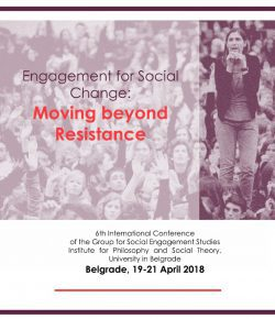 "CAS SEE Fellows at the ""Engagement for Social Change: Moving beyond Resistance"" conference"